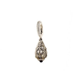 Judith Ripka Sterling Silver & Cubic Zirconia Drop Pendant