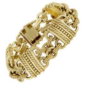 Judith Ripka 18K Yellow Gold Carved Bracelet