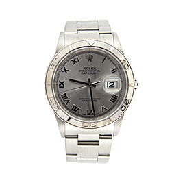 Mens Rolex Steel Datejust Turn-O-Graph Silver Roman 16264