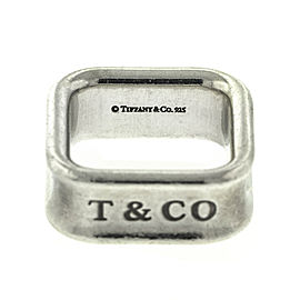 Tiffany & Co. Sterling Silver 1837 Square Ring