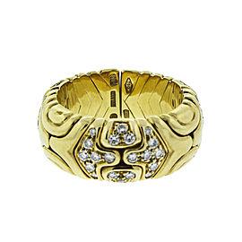 Bulgari 18K Yellow Gold Diamond Ring