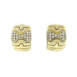 Bulgari 18K Yellow Gold Parentesi Diamond Earrings