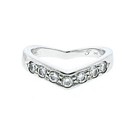 Tiffany & Co. Platinum and Diamond Wave Band Ring