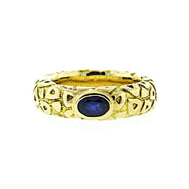 Chaumet 18K Yellow Gold and Sapphire Ring