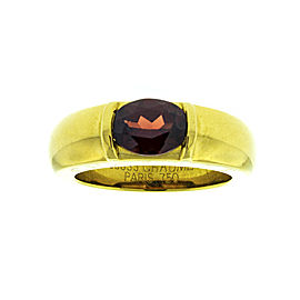 Chaumet 18K Yellow Gold and Garnet Ring
