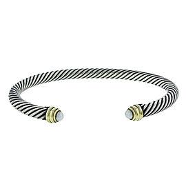 David Yurman 14K Gold Cable Classics Bracelet with Pearls