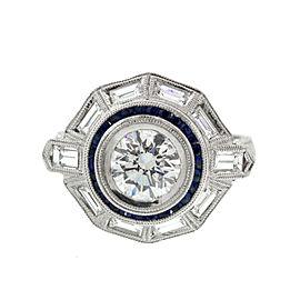 Platinum Vintage Style Diamond Ring