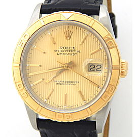 Mens Rolex Two-Tone 18K/SS Datejust Turn-O-Graph Gold Tapestry 16263)