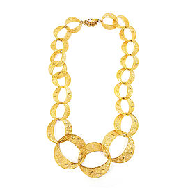 14K Yellow Gold Filigree Style Necklace
