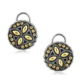 John Hardy Sterling Silver & 18K Yellow Gold Button Earrings