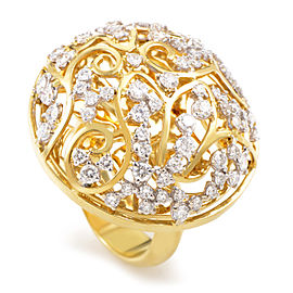 Lani Fratelli 18K Yellow Gold Diamond Lattice Ring