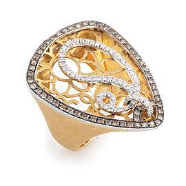LeaderLine 18K Multi-Tone Gold Diamond Ring