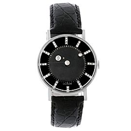 Vacheron & Constantin Lecoultre 14K White Gold & Black Mystery Dial 33.5mm Unisex Watch