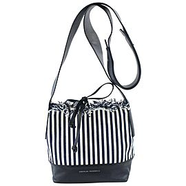 Loeffler Randall Navy Stripe Textile Bucket 18mz0731 Blue Canvas Cross Body Bag