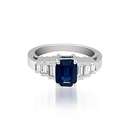Le Vian Certified Pre-Owned Blueberry Sapphires and Vanilla Diamonds Ring set in 18k Vanilla Gold
