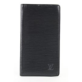 Louis Vuitton Black Epi Leather Noir Long Bifold Flap Wallet 155lvs430