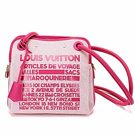 Louis Vuitton Pink 2009 Cruise Rider Articles de Voyage Shoulder Bag 861939
