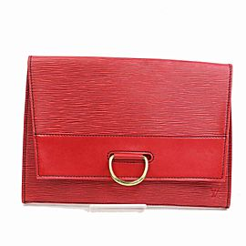 Louis Vuitton Red Epi Lena 28 Fold-Over Clutch 8701598