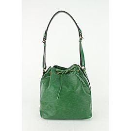 Louis Vuitton Green Epi Leather Borneo Petit Noe Drawstring Bucket Hobo 820lv82