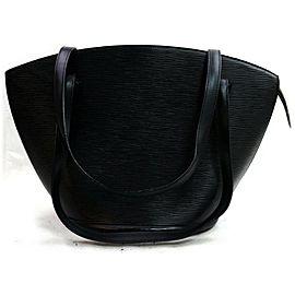 Louis Vuitton 872133 Noir Saint Jacques Zipper Tote Black Epi Leather Shoulder Bag