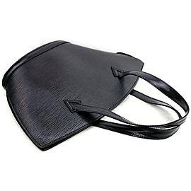 Louis Vuitton 872306 Noir Saint Jacques Pm Zip Black Epi Leather Tote
