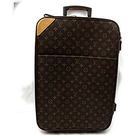 Louis Vuitton 872334 Monogram Pegase 60 Rolling Luggage Trolley Suitcase Brown Coated Canvas Weekend/Travel Bag