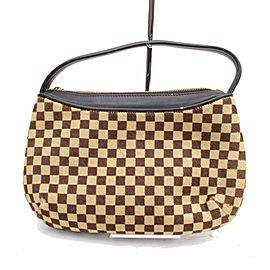 Louis Vuitton Accessoires Pochette Limited Edition Damier Sauvage Tigre 868307 Brown Calf Hair Satchel