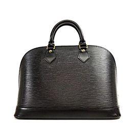 Louis Vuitton Alma 231200 Black Epi Leather Satchel
