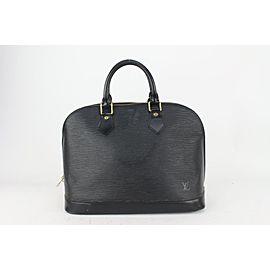 Louis Vuitton Black Epi Alma PM Bag 820lv4
