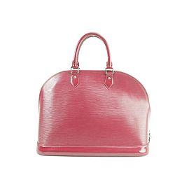 Louis Vuitton Alma Gm 7lk1226 Fuchsia Epi Leather Satchel