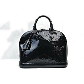 Louis Vuitton Black Magenetique Monogram Vernis Alma PM Bag 862964