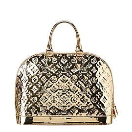 Louis Vuitton Large Gold Monogram Miroir Alma GM Bowler Bag 516lvs68