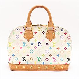 Louis Vuitton Monogram Multicolor White Alma PM Studded Bag 862412