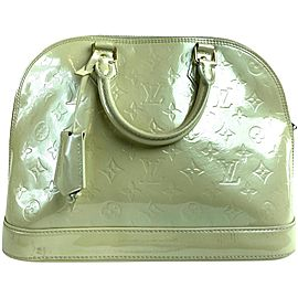 Louis Vuitton Alma Monogram Vernis Pm 6lva63 Light Beige Vanilla Patent Leather Satchel