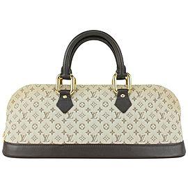 Louis Vuitton Olive Grey Khaki Monogram Mini Lin Alma Horizontal 824lv48