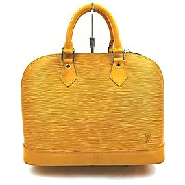 Louis Vuitton Yellow Epi Alma PM Bowler Bag 861802