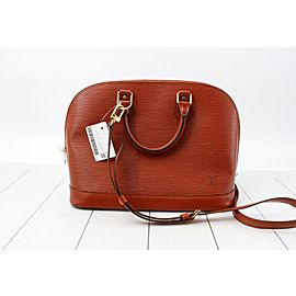 Louis Vuitton Brown Epi Leather Alma PM with Strap Bandouliere 861828