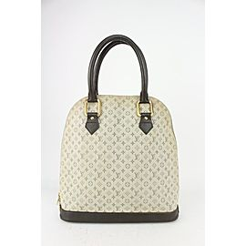 Louis Vuitton Olive x Grey Monogram Mini Lin Alma Haut Tall Dome Bag 823lv14