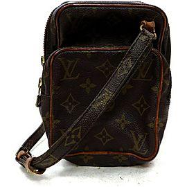 Louis Vuitton Amazon Mini Monogram 872484 Brown Coated Canvas Cross Body Bag