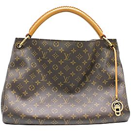 Louis Vuitton Artsy Hobo 872339 Monogram Mm Brown Coated Canvas Shoulder Bag
