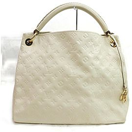 Louis Vuitton 872342 White Ivory Empreinte Leather Artsy MM Hobo