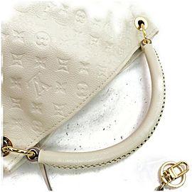 Louis Vuitton Artsy Hobo 872342 Ivory Leather Mm Whites Monogram Empreinte Shoulder Bag