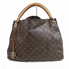 Louis Vuitton Artsy Hobo Mm 871221 Brown Monogram Canvas and Calfskin Shoulder Bag