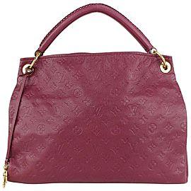 Louis Vuitton Aurore Leather Monogram Empreinte Artsy MM Braided Hobo 831lv37
