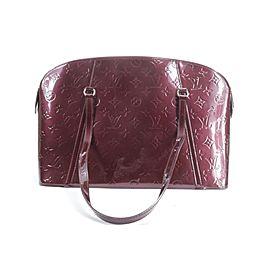 Louis Vuitton Avalon Zipped Amarante Bag18lk0116 Burgundy Monogram Vernis Leather Shoulder Bag