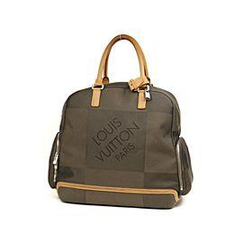 Louis Vuitton Aventurier Duffle Damier Geant Carry On 227050 Khaki Coated Canvas Satchel