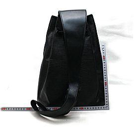 Louis Vuitton Epi Noir Sac a Dos Sling Backpack Hobo Drawstring