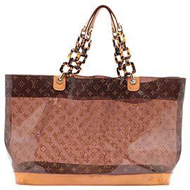Louis Vuitton Clear Monogram Cabas Ambre GM Neo Chain Tote Bag with Pouch 709lvs621