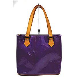 Louis Vuitton Purple Monogram Vernis Houston Zip Tote Bag
