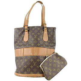 Louis Vuitton Monogram Marais Bucket GM Tote Bag